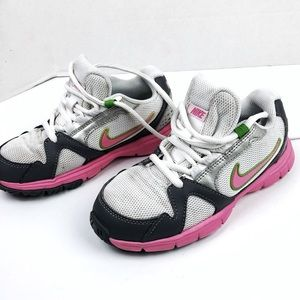 Nike pink and gray youth size 1 sneakers
